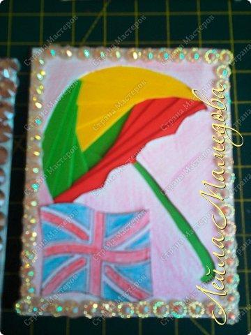 Привет,девочки!!! Мне уже сняли гипс, я быстренько сделала серия карточек. Почему зонты? Потому-что Англия туманная и сырая страна. поэтому что бы вы не промокли,я дарю вам зонтики!!!! фото 9