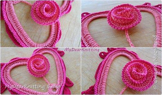 Шикарное сердечко с розочкой - мастер-класс по вязанию крючком (1 часть) фото 2