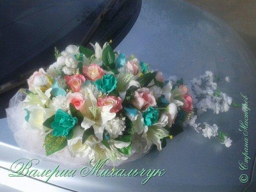 Моя первая работа по оформлению свадебной машины. Буду рада вашим комментариям и отзывам))) фото 2
