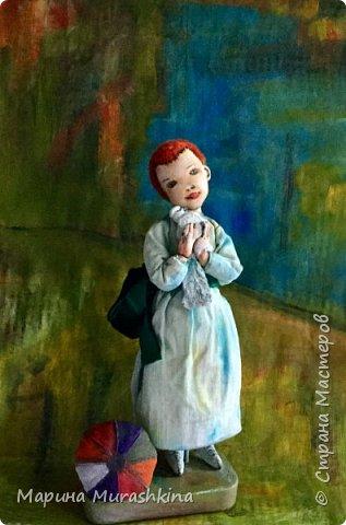 Еще одна работа по мотивам Пикассо - текстильная кукла 'Девочка с голубем'  фото 3