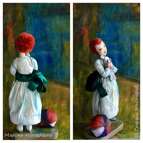 Еще одна работа по мотивам Пикассо - текстильная кукла 'Девочка с голубем'  фото 4