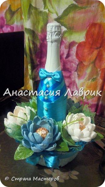 Украшение бутылочки))) фото 4