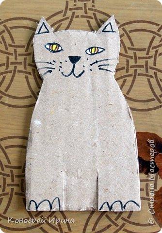 Котёнок из картона и ниток. фото 5