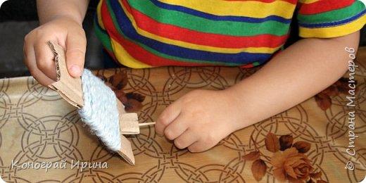 Котёнок из картона и ниток. фото 10