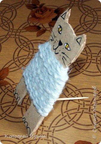 Котёнок из картона и ниток. фото 13