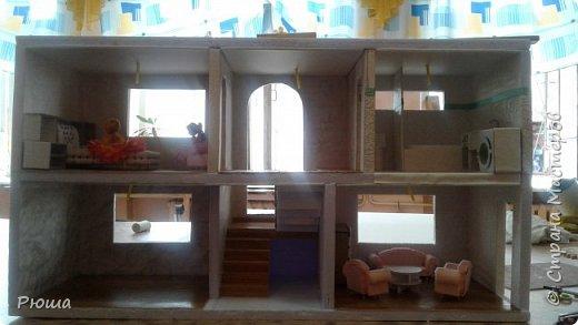 Здраствуйте, жители и гости страны мастеров. Вот уже две недели делаю кукольный домик. Работы еще много, но не удержалась, хочу показать то что получилось фото 1