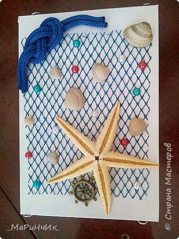 Коробочка в морском стиле для упаковки подарка. фото 2