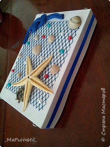Коробочка в морском стиле для упаковки подарка. фото 3