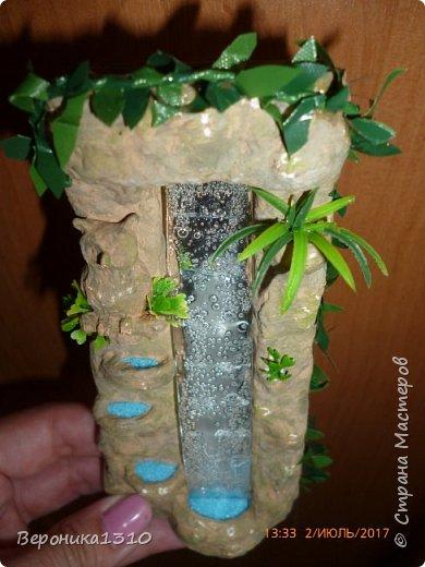 """Всем добрый день. Хочу поделиться МК по созданию миниатюрного водопада. Водопад делался для миниатюры, МК которой выставлю позже. Что бы не перегружать будущий МК фотками , решила вынести его отдельно. Опять таки, не претендую на ноу-хау, эта работа из серии """"как это делала я"""".Водопад будет с подсветкой, так как следующую миниатюру предполагается делать с освещением. фото 17"""