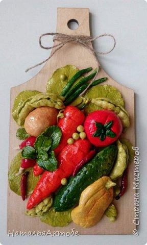 Вот такой овощной букетик из соленого теста. По МК Ольги Родионовой.