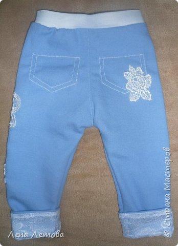 Доче 1,5 месяца. Ткань джинс. Шапочка из трикотажа. фото 2