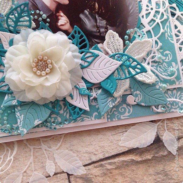 """Свадьбы продолжаются:) Результат этой недели. Открытка с кармашком на свадьбу цвета страсти:) , из бумаги Galeria Papiery """"НЕЖНЫЕ СЛОВА""""  фото 5"""