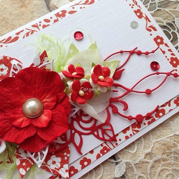 """Свадьбы продолжаются:) Результат этой недели. Открытка с кармашком на свадьбу цвета страсти:) , из бумаги Galeria Papiery """"НЕЖНЫЕ СЛОВА""""  фото 2"""