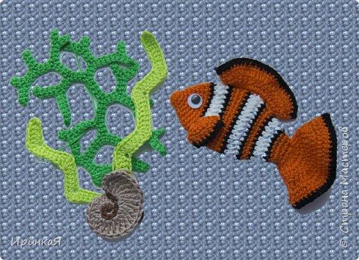 """Панамка связана для мальчика 2-3 лет, рыбка из любимого детьми мультфильма """"В поисках Немо) фото 2"""