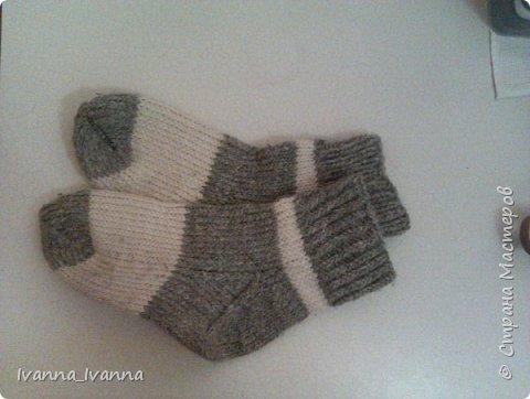 Мои первые носочки. Связала давно. В прошлое лето были талисманом у дочки в походе.