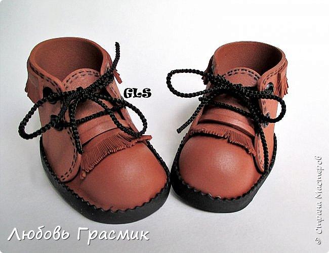 Ботиночки ... почти замшевые... из фома фото 3