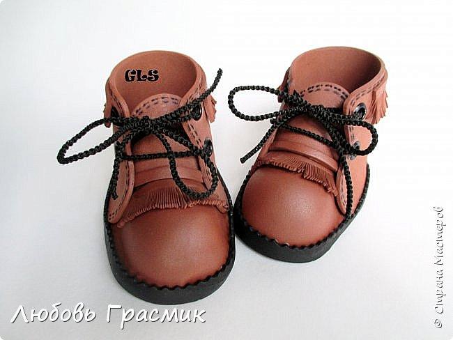 Ботиночки ... почти замшевые... из фома фото 4