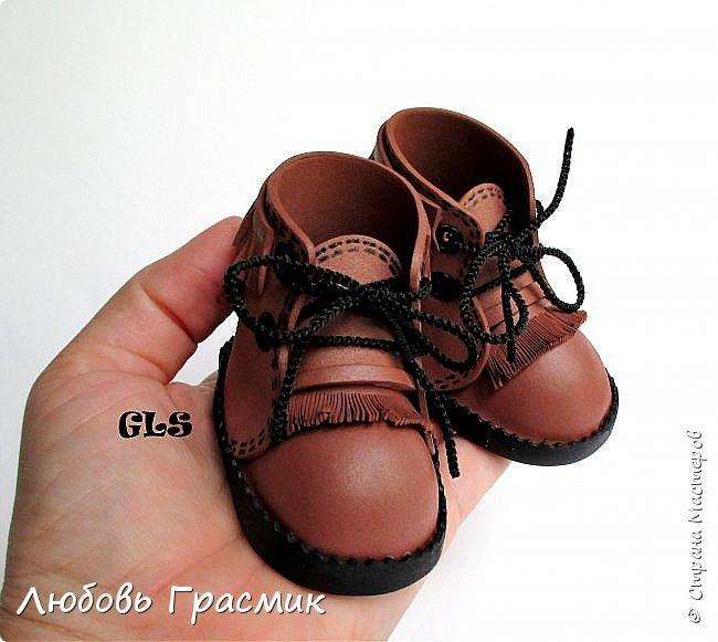 Ботиночки ... почти замшевые... из фома фото 1
