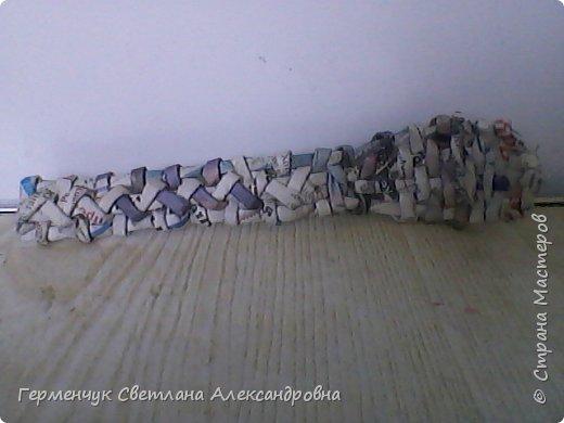 """В   Стране Мастеров  увидела  талантливые работы мастеров плетения из газетных трубочек   и решила испробовать  с самого   """"простого """" ,как мне показалось - с ложки. Что получилось я лучше промолчу!!! Прошу не судите строго!!! фото 7"""