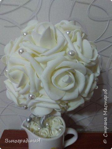 Букет из белых роз, любовь здесь в каждом лепестке... фото 2