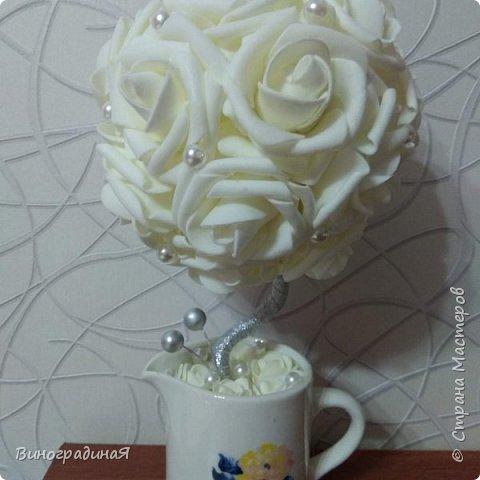 Букет из белых роз, любовь здесь в каждом лепестке... фото 1