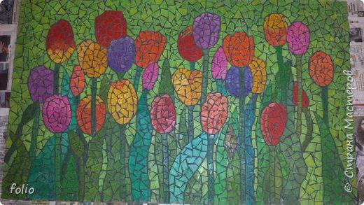 Всем привет! Понравилось мне работать с мозаикой из  линолеума. Наинуднейшая но очень увлекательная работа!! ))) МК уже был. Если заинтересует, заходите по адресу http://stranamasterov.ru/node/1103243 Но кое чем поделюсь и в этот раз фото 1