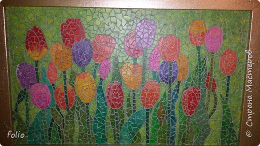 Всем привет! Понравилось мне работать с мозаикой из  линолеума. Наинуднейшая но очень увлекательная работа!! ))) МК уже был. Если заинтересует, заходите по адресу http://stranamasterov.ru/node/1103243 Но кое чем поделюсь и в этот раз фото 12