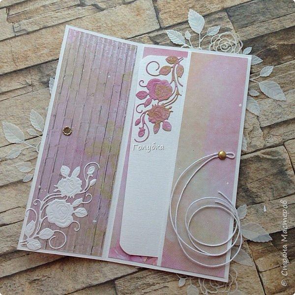 Конвертики:) Получила новый нож и сразу в дело:) Розочка очень изящная -Joy Crafts - Cutting & Embossing Die - 3D Rose Swirl фото 4