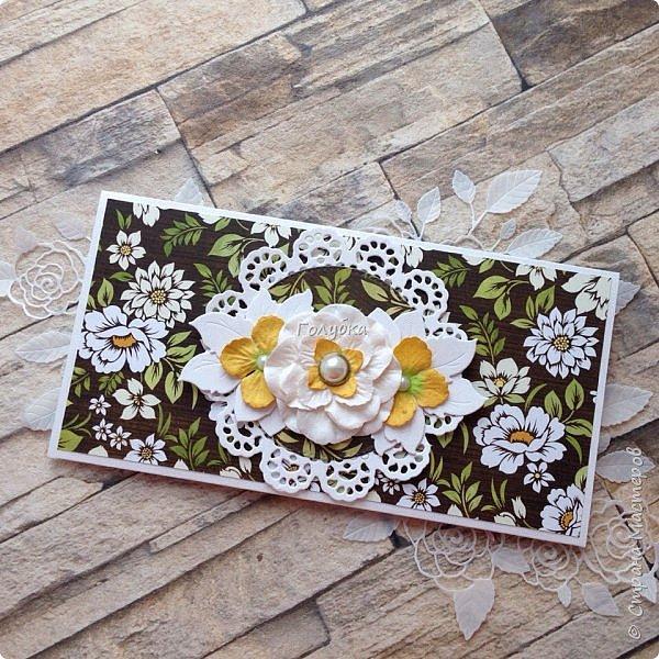 Конвертики:) Получила новый нож и сразу в дело:) Розочка очень изящная -Joy Crafts - Cutting & Embossing Die - 3D Rose Swirl фото 5