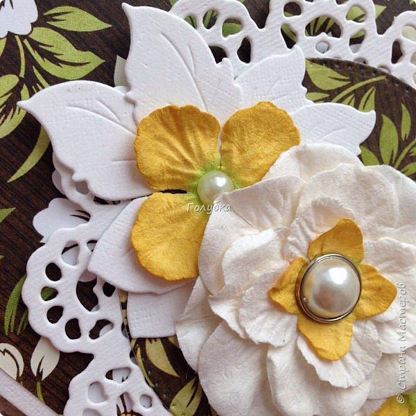 Конвертики:) Получила новый нож и сразу в дело:) Розочка очень изящная -Joy Crafts - Cutting & Embossing Die - 3D Rose Swirl фото 6