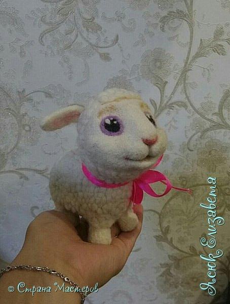 Давненько уже делала эту овечка) Как то мама увидела репортаж про сухое ведение, и увидела овечку На просторах интернета нашла овечку и решила сделать маме похожую  фото 1
