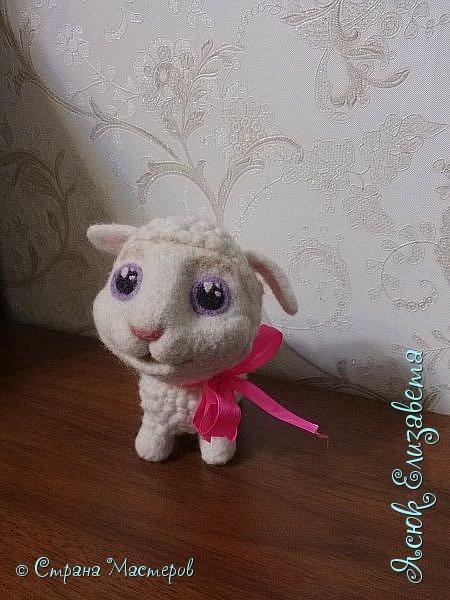 Давненько уже делала эту овечка) Как то мама увидела репортаж про сухое ведение, и увидела овечку На просторах интернета нашла овечку и решила сделать маме похожую  фото 2