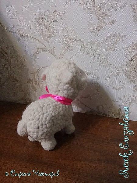Давненько уже делала эту овечка) Как то мама увидела репортаж про сухое ведение, и увидела овечку На просторах интернета нашла овечку и решила сделать маме похожую  фото 5