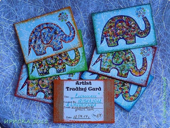 Привет всем гостям моей странички!!! Благодаря Элайдже http://stranamasterov.ru/user/399311 появилась наша первая с моей доченькой серия АТС. Эл!!! Спасибо за вдохновение!!! Мы с Людочкой слоников рисовали вместе, оформлением в основном занималась я. фото 4