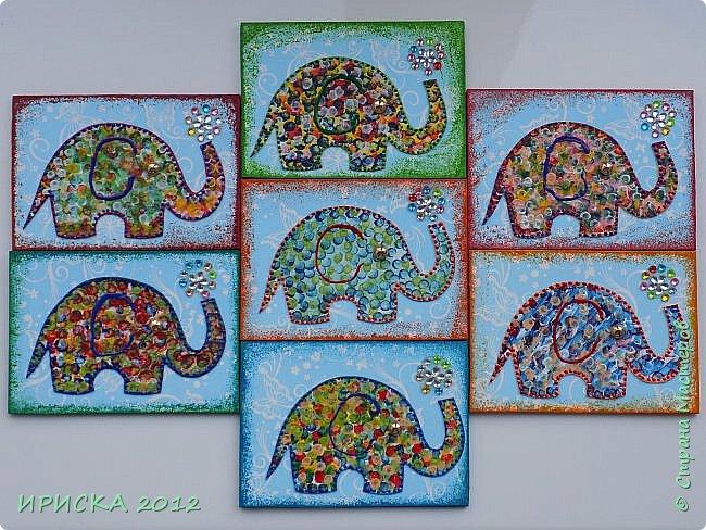 Привет всем гостям моей странички!!! Благодаря Элайдже http://stranamasterov.ru/user/399311 появилась наша первая с моей доченькой серия АТС. Эл!!! Спасибо за вдохновение!!! Мы с Людочкой слоников рисовали вместе, оформлением в основном занималась я. фото 3