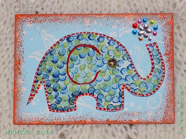 Привет всем гостям моей странички!!! Благодаря Элайдже http://stranamasterov.ru/user/399311 появилась наша первая с моей доченькой серия АТС. Эл!!! Спасибо за вдохновение!!! Мы с Людочкой слоников рисовали вместе, оформлением в основном занималась я. фото 5