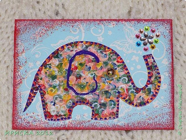 Привет всем гостям моей странички!!! Благодаря Элайдже http://stranamasterov.ru/user/399311 появилась наша первая с моей доченькой серия АТС. Эл!!! Спасибо за вдохновение!!! Мы с Людочкой слоников рисовали вместе, оформлением в основном занималась я. фото 7