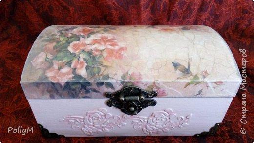 Завершая свою зимне-весеннюю сессию, представляю вам Розовую шкатулку. Ее я сделала в подарок своей классной руководительнице.  фото 2