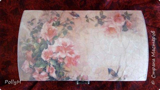 Завершая свою зимне-весеннюю сессию, представляю вам Розовую шкатулку. Ее я сделала в подарок своей классной руководительнице.  фото 4