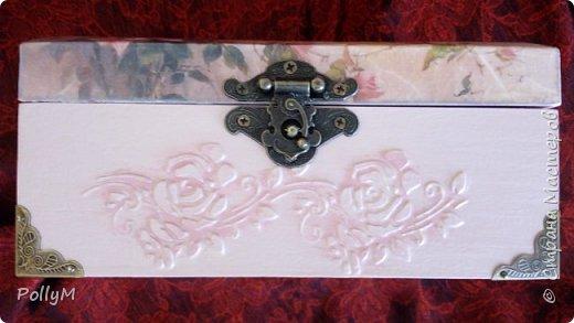 Завершая свою зимне-весеннюю сессию, представляю вам Розовую шкатулку. Ее я сделала в подарок своей классной руководительнице.  фото 6