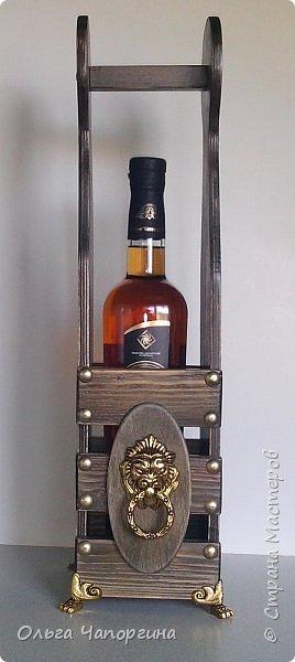 Добрый день, уважаемые коллеги! Показываю Вам новую работу и первый для себя короб для бутылки. фото 2