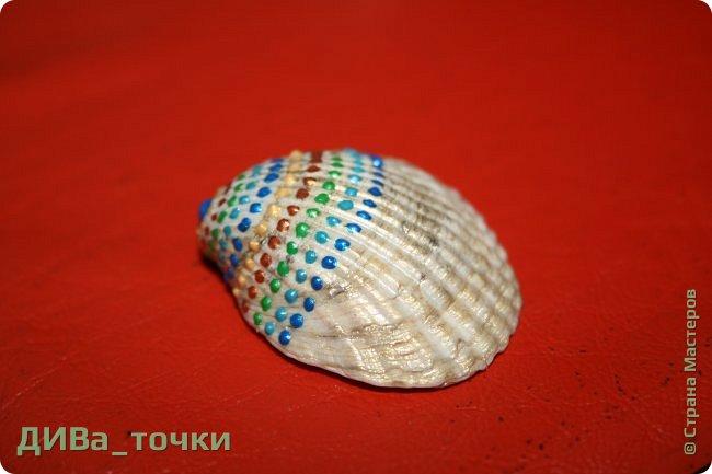 Доброго всем дня.  Очень распространена роспись морской гладкой гальки, но можно ведь расписывать и ракушки, создавать из них композиции. Вот это я и хочу вам показать. Это может сделать каждый.     фото 5