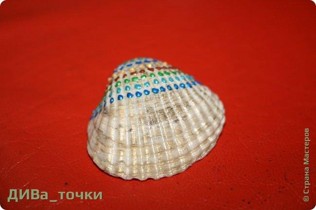 Доброго всем дня.  Очень распространена роспись морской гладкой гальки, но можно ведь расписывать и ракушки, создавать из них композиции. Вот это я и хочу вам показать. Это может сделать каждый.     фото 6