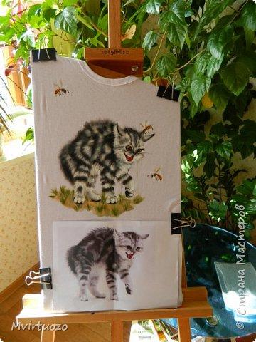 День добрый! Продемонстрирую свои новые футболочки - целый комплект 4 штуки. Уже уехали аж в Красноярск! фото 7
