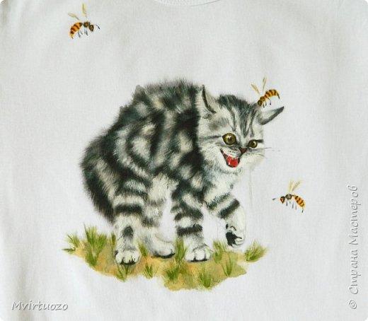 День добрый! Продемонстрирую свои новые футболочки - целый комплект 4 штуки. Уже уехали аж в Красноярск! фото 1