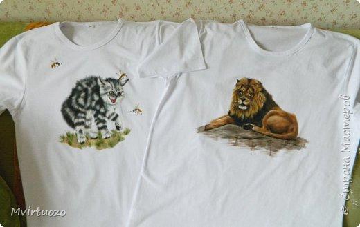 День добрый! Продемонстрирую свои новые футболочки - целый комплект 4 штуки. Уже уехали аж в Красноярск! фото 3