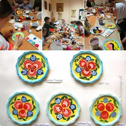 3 группа расписывает тарелочки фото 3