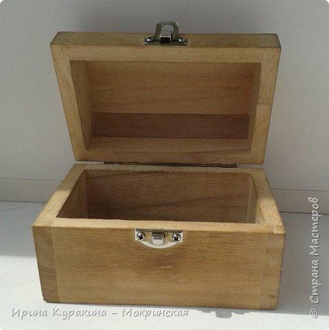 Предлагаю свой мастер-класс по декорированию сундучка из дерева. фото 4