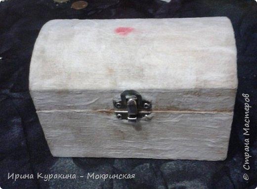 Предлагаю свой мастер-класс по декорированию сундучка из дерева. фото 5