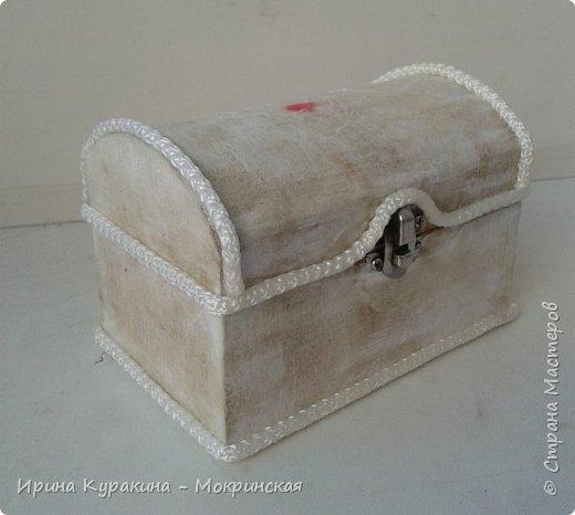 Предлагаю свой мастер-класс по декорированию сундучка из дерева. фото 6